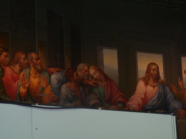 """Мозаичная копия фрески Леонардо да Винчи """"Тайная вечеря"""", Вена, Австрия"""