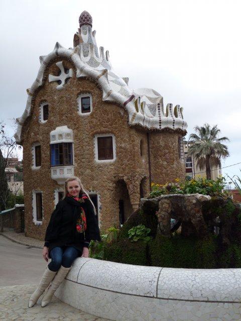 Пряничный Домик в Парке Гуэль, Барселона, Испания
