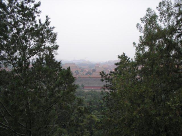 """Парк Цзиншань, вид на """"Запретный город"""", Пекин"""