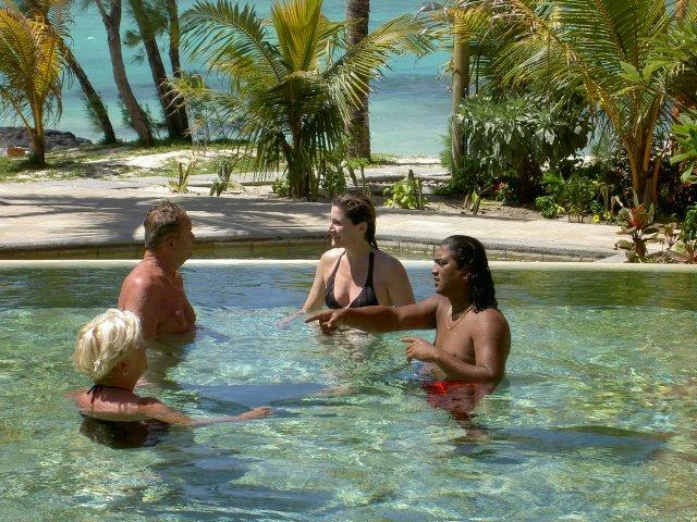 Аква-аэробика в отеле La Palmeraie 3*, Маврикий