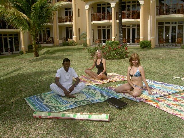 Йога в отеле Beau Rivage 5*, Маврикий