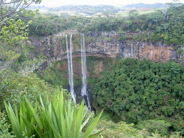 Водопад Шамарель, Маврикий