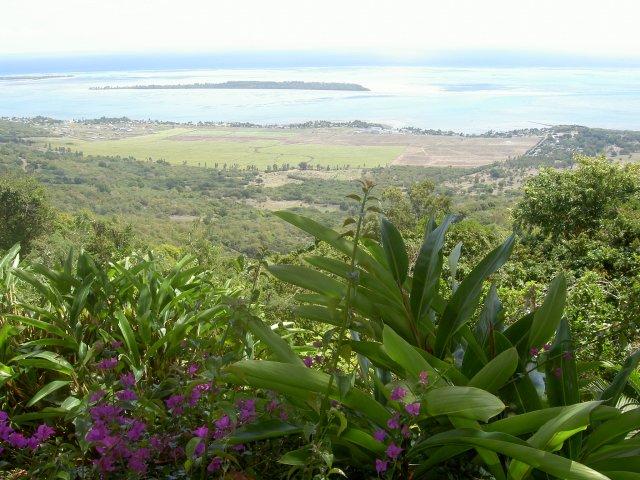 Вид на океан из ресторана Le Chamarel, Маврикий