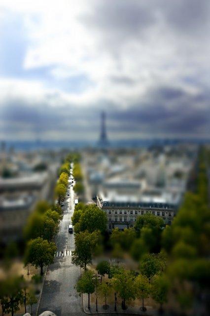 Париж, Франция. Tilt-Shift
