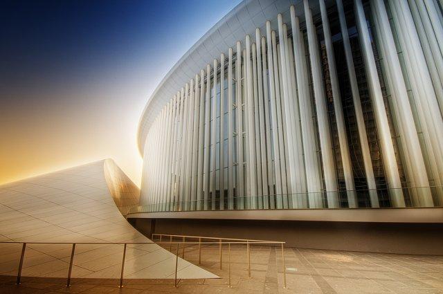 Современное здание филармонии, Люксембург