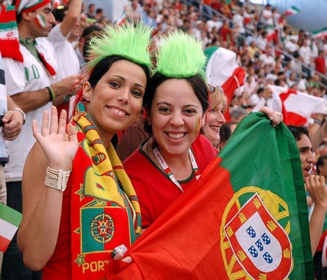 Португальские болельщики футбола