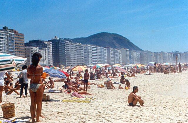 Пляж Копакабана, Рио-де-Жанейро, Бразилия
