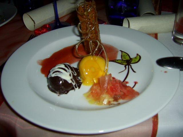Десерт в ресторане отеля La Palmaraie 3*, Маврикий