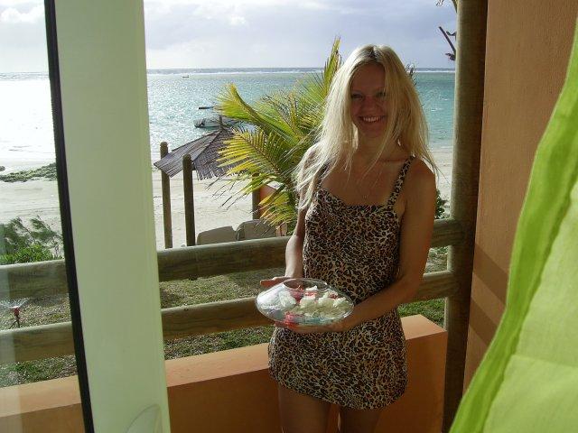 Вид на море, отель La Palmeraie 3*, Маврикий