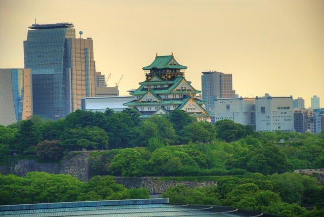 Самурайский замок Осака, Япония