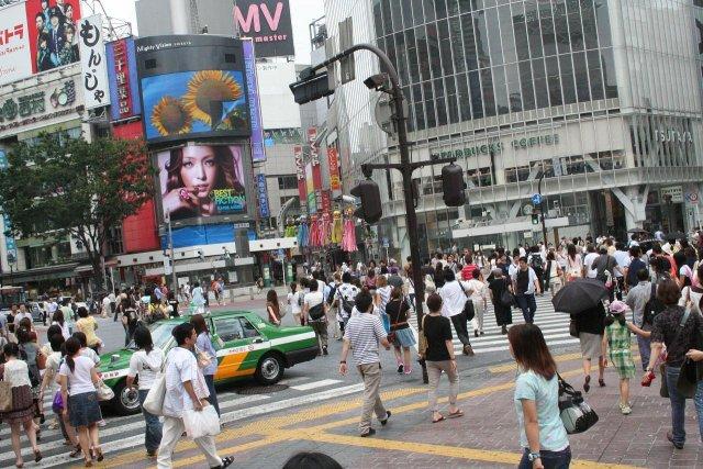 Уличное движение Сибуя, Токио, Япония