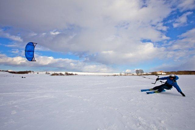 Сноукайтинг на Плещеевом озере, Россия