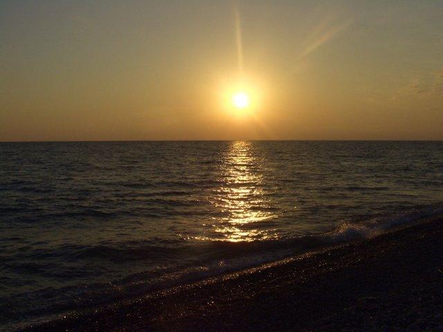 Закат на Черном море, Сочи