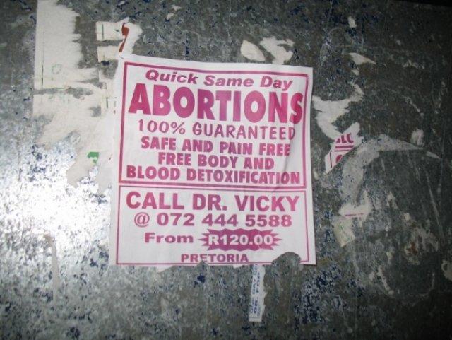 Аборты за 1 день. Стоимость 10 евро