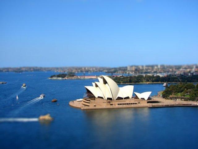 Театр Оперы в Сиднее, Австралия. Tilt-Shift