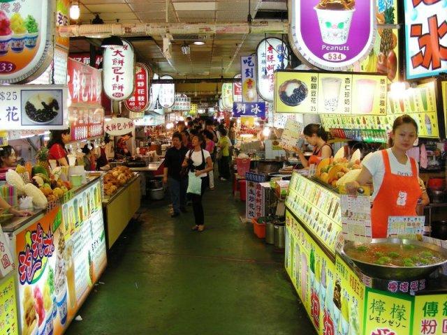 Ночной рынок Shilin в Тайбэй, Тайвань
