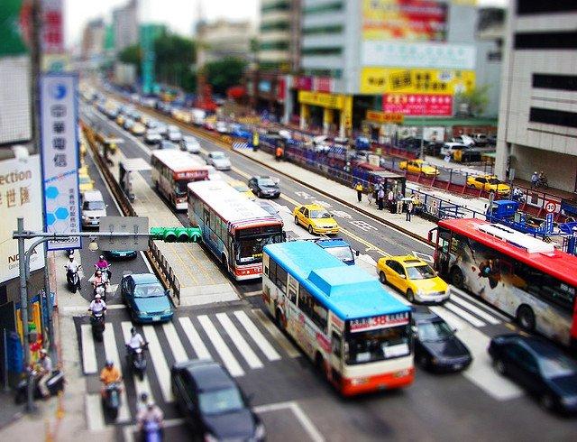 Транспортное движение в Тайбэй, Тайвань