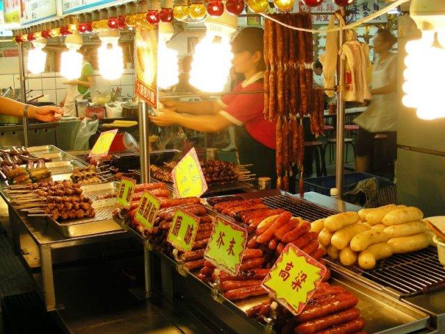 Ночной рынок в Тайпей, Тайвань