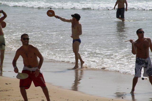 Пляжный теннис (маткот), Средиземное море, Тель-Авив, Израиль