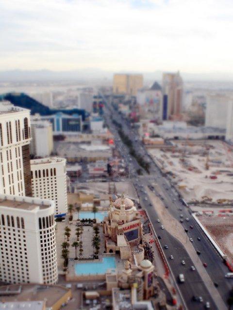 Лас-Вегас, США. Tilt-Shift