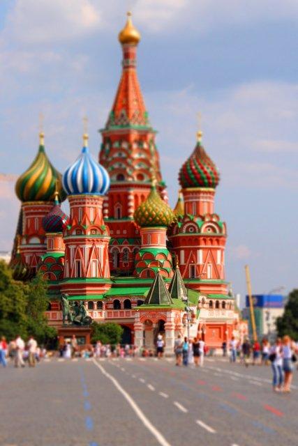 Москва, Россия. Tilt-Shift