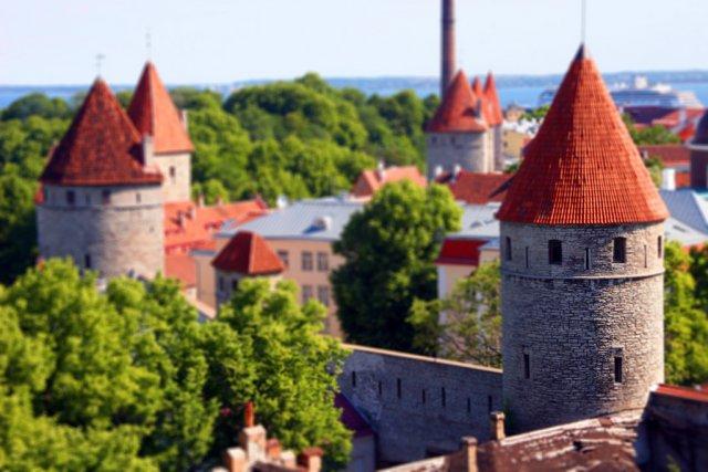 Таллин, Эстония. Tilt-Shift