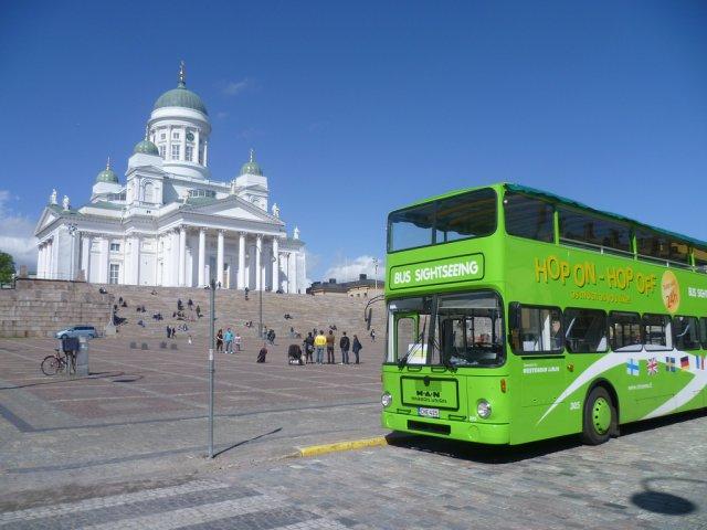 Туристический автобус в Хельсинки, Финляндия