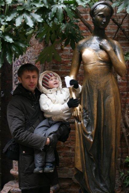 Фото с Джульеттой, Верона, Италия