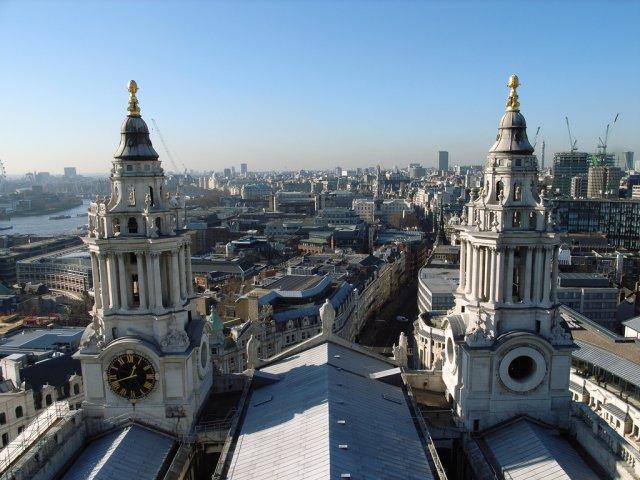 Вид на Лондон из Собора Святого Петра, Великобритания