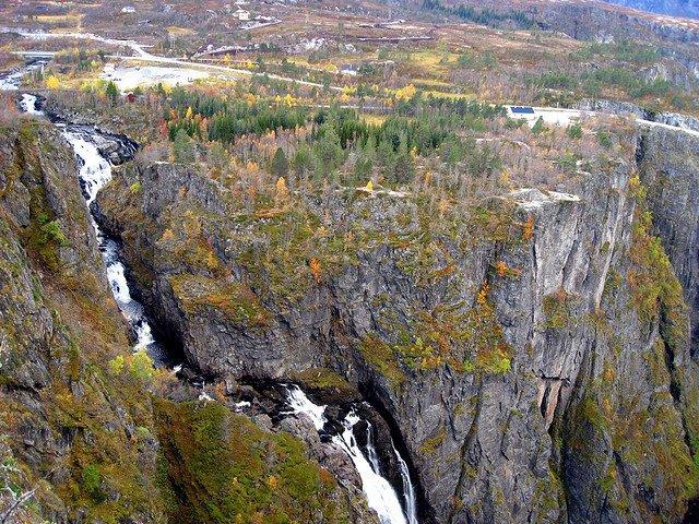Водопад Вёрингсфоссен, Норвегия