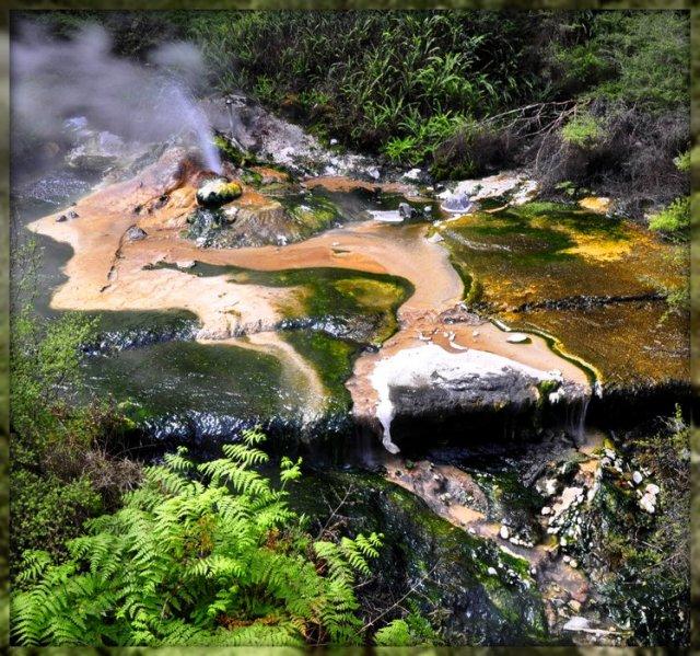 Долина гейзеров Ваймангу, Новая Зеландия
