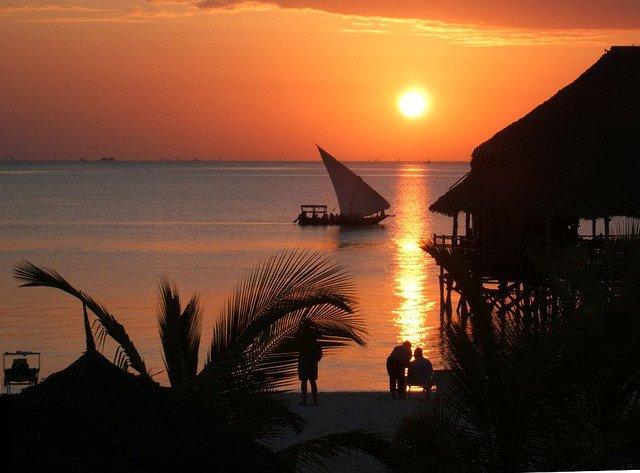 Закат. Занзибар, Танзания