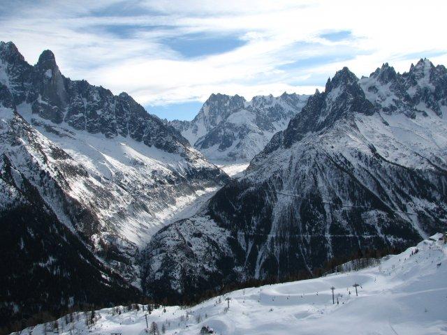 Вид на Белую Долину с области Flegere, Шамони