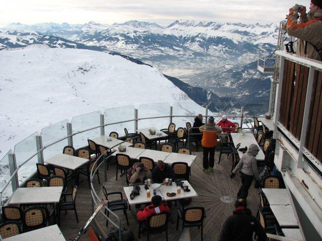 Панорамный ресторан в области Brevent, Шамони