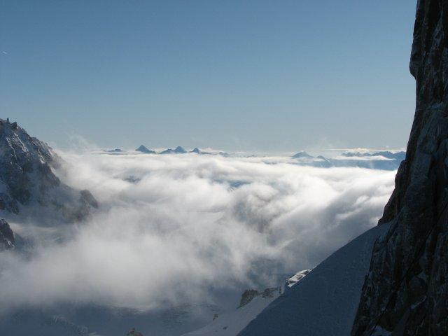 Горы в облаках, Шамони