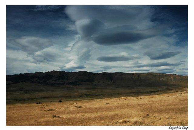 Прощальный взгляд на небо и долины Торрес Дель Пайне