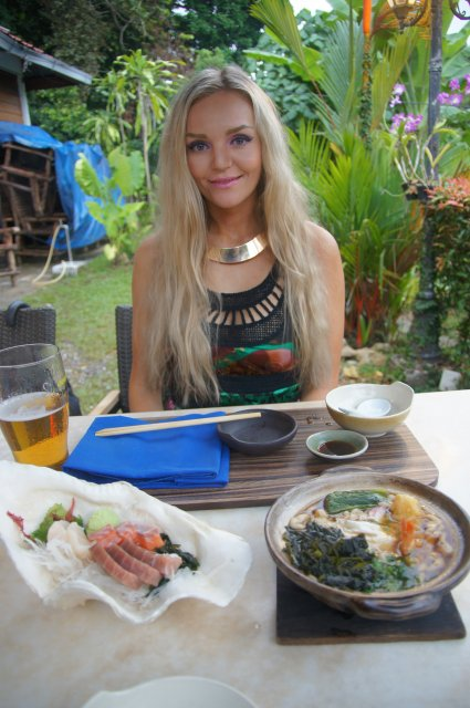 В ресторане Unkaizan, Лангкави