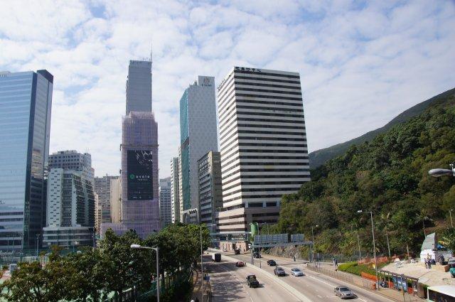 Гонконг из туристического автобуса