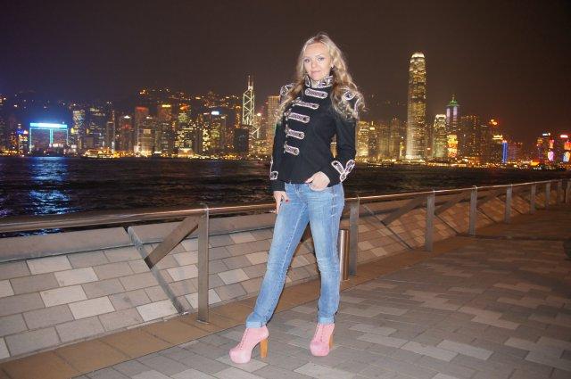 Ночной Гонконг, набережная бухты Виктория