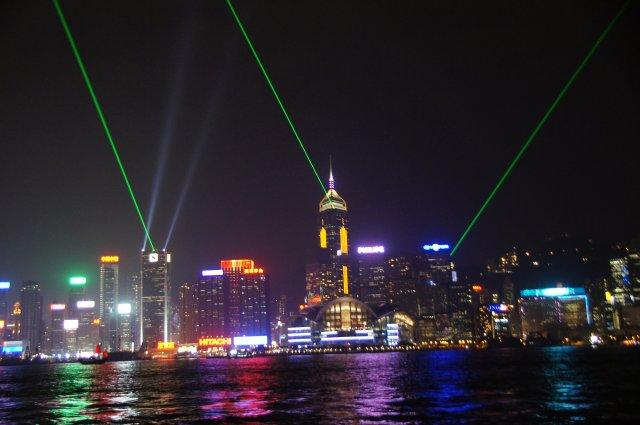 «Симфония огней», набережная бухты Виктория, Гонконг