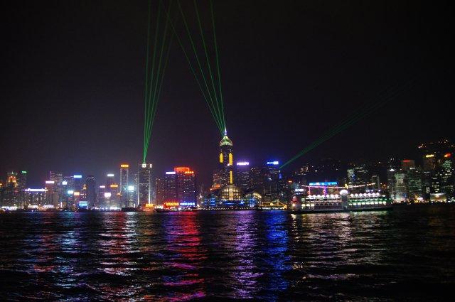 «Симфония огней», небоскребы Гонконга