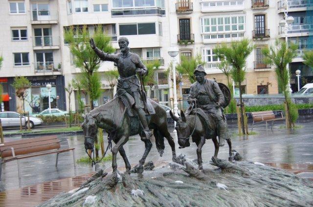 Дон Кихот и Санчо Панса, Сан-Себастьян, Испания