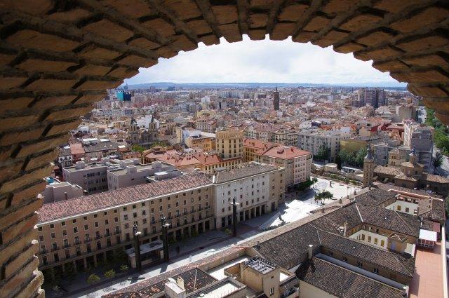 Вид с башни Пилар, Сарагоса