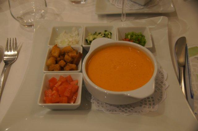Тыквенный суп-пюре в ресторане Navarra, Валенсия