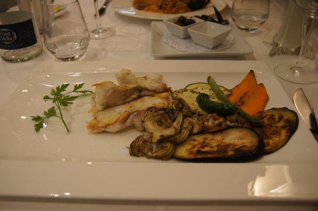 Овощи-гриль с рыбой