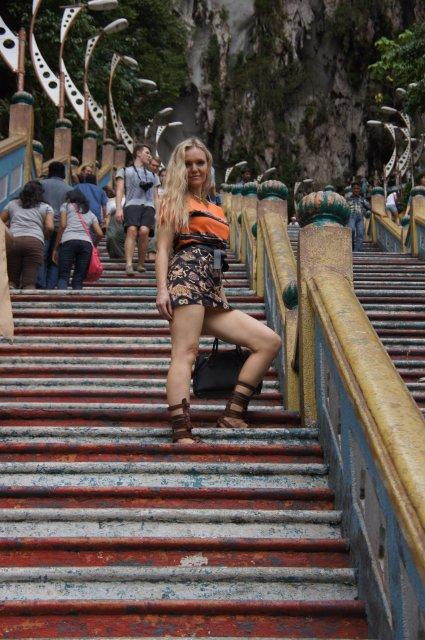 Фитнес-ступеньки к пещерам Бату, Куала-Лумпур