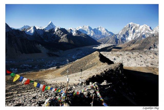 Вид на долину ледника Khumbu