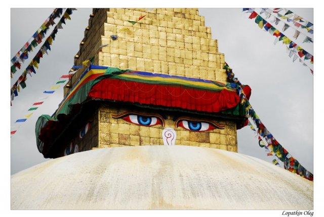 Ступа Боддханатх  - после возвращения в Катманду из Луклы...