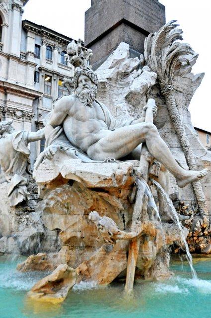 Фонтан Четырёх рек, Рим
