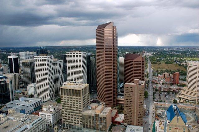 Вид с башни Canadian National Tower